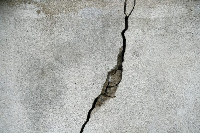 seal cracks in the walls